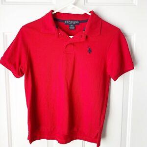 Polo Red Short Sleeve Shirt Boys Size 10/12