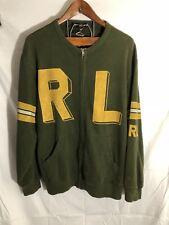 Vintage Ralph Lauren Polo Army Green Letterman Varsity Zipup Spellout