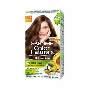 Garnier Natural Crème Hair Color Shade 5.32 Caramel Brown,70ml+60g+Free Shipping