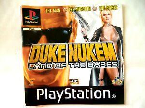 58318 Instruction Booklet - Duke Nukem Land Of The Babes - Sony PS1 Playstation