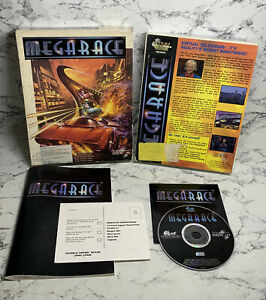 Megarace For The IBM PC - Game - Big Box - Cd Rom - Tested And Working