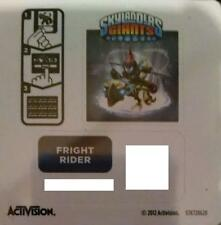 Fright Rider Skylanders Giants Sticker/Code Only!