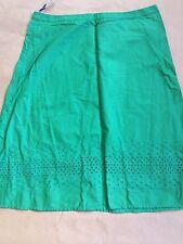 NWOT Top Shop Green Eyelet Skirt Size UK 12
