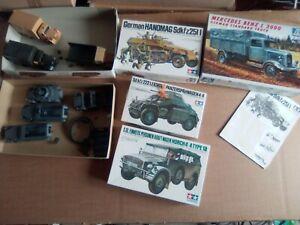Halbkettenfahrzeuge, Lkw's, und Spähwagen, 1:35, gebaut