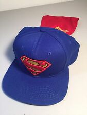 DC Comics Superman Embroidered Blue Wide Brim Snapback Cap w/Cape