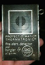 Vintage Protect-O-Matic Fedtro Thermatronic Fa-2D Fire Alert and burglar alarm