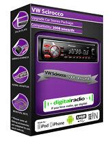 VW SCIROCCO DAB Radio ,Pioneer autoradio USB auxiliaire lecteur + GRATUIT