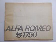 ALFA ROMEO Used ORIGINAL 1750 BERLINA SALES BROCHURE Berlina 1750 Sedan + USA