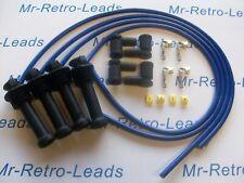BLUE 8MM PERFORMANCE IGNITION LEAD KIT FOR ZETEC BLACK TOP KIT-CAR PART BUILT HT