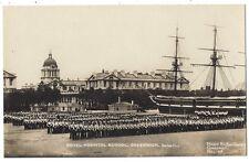 GREENWICH Royal hospital School on Parade, RP Postcard by Richardson, Unused