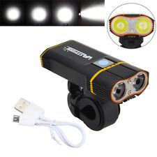 6000LM 2X XM-L2 LED Linterna Frontal Luz Cabeza Bicicleta Ciclismo 2x 18650+USB