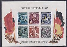 DDR 1953 Block 13 Ungezähnt Postfrisch ** MNH Gedenkblock zum Engelsjahr