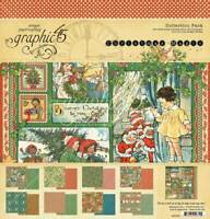 Graphic 45 Christmas Magic 12 x 12 Collection Pack Patterns & Solids Ephemera