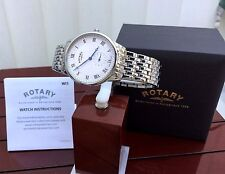 Mens Rotary SWISS MADE Watch Sapphire glass RRP £260 IDEAL GIFT for Him !! Boxed