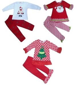 Christmas girl baby clothes outfit suit top and leggings set 6 months - 6 years