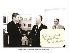 Mike Mansfield Autograph US Senator Montana Ambassador Japan Majority Leader #2