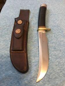 Randall made knife model 4-6- brown botton sheath- Korean war era
