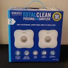 HOMEDICS 2-PK TOTAL CLEAN PERSONAL AIR SANITIZER NRFB