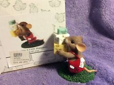 Fitz & Floyd Charming Tails Figurine - Delivering A Little Happiness has box!