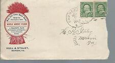 JA-019 - 1902 Hull & Staley, Marion VA Lettherhead and Envelope Flour Mill