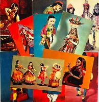 1968 Postcards Vintage Dolls National Costumes Photo postcards Lot 11pcs