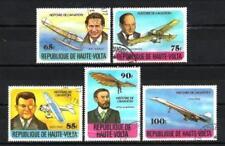 Avions Haute Volta (8) série complète de 5 timbres oblitérés