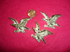 Vintage Gold/White Flat Back Plastic Eagles Made in USA