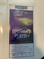 Minneapolis Miracle Signed Stefon Diggs Game Ticket Beckett COA Vikings