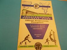 1963-64 Chesterfield v Barrow division 4