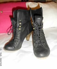 New Look Ankle Lace Up Synthetic Leather Women's Boots