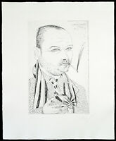 Kunst in der DDR, 1986. Radierung von Clemens GRÖSZER (1951-2014 D) handsigniert