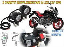 FARETTI KIT FARI SUPPLEMENTARI MOTO LED 12V 10W 6000K PER HONDA NC 750 S DCT