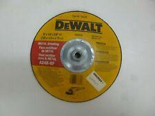 """New DeWalt 9"""" Type 28 Aluminum Oxide Depressed Center Wheel, 5/8""""-11 Arbor, 1/4"""""""