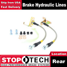 Stoptech Rear Stainless Steel Braided Brake Lines For 2005-2013 Ford Mustang