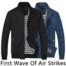 New Men's Casual Zip Jacket Coat Sportswear Bomber Windproof Outerwear Plus Size