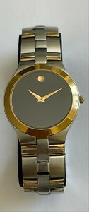 Men's Movado 2 Tone 81.G2.1899 Watch Museum 695/664 Sapphire Crystal Swiss Made
