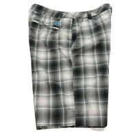 Puma Golf Shorts Mens 32 Flat Front Ombre Gray Blue Plaid Performance 562655