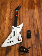 Guitar Hero X-Plorer Wired Controller Xbox 360 Red Octane Gibson Explorer TESTED