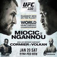 UFC 220 Event Print Poster 24x24 Miocic vs Ngannou Volkan MMA Buy 2 for $14
