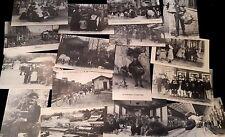 époque 1910: lot 32 CARTES POSTALES pas d'écriture au dos (réédition)