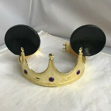 Disney Parks Disney on Ice Gold Crown Mickey Mouse Ears RARE purple CLEAN EUC