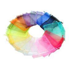 100PCs 10x15cm Mixed Colors Organza Jewelry Gift Present X-mas Pouch Bags T3U6