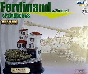 DRAGON ARMOR 1:72 DIORAMA ROUND WITH BREADBOARD TOW TRUCK REINFORCED FERDINAND