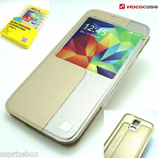 Hoco Leather Original Series Slim Battery Case for Samsung Galaxy S5 Golden
