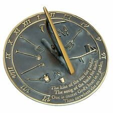 Vintage Solid Brass Kiss Of Sundial Maritime Decor Art Garden Nautical