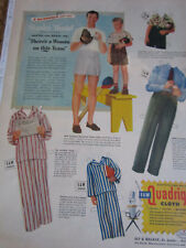 1948 Stanley Musical Paper Doll w/Quadriga clothes & Son Dickie Uncut