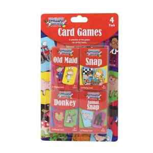Tallon Children's Playing Cards - 4 x Kids card Games Family Fun Toys Gifts