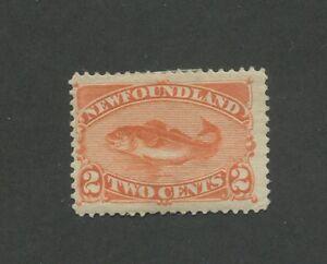 1887 Newfoundland Codfish 2 Cents Postage Stamp #48