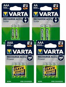 Varta Mignon Micro AA AAA Akkus wiederaufladbare Batterien -> vorgeladen Neuware