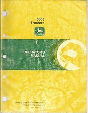 JOHN DEERE 6605 TRACTORS OPERATORS MANUAL